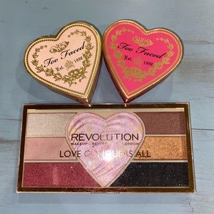 Revolution and too faced makeup